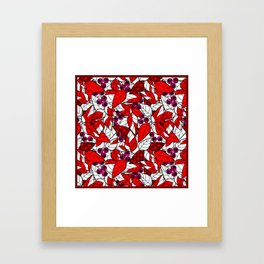 Retro . Bright colorful pattern . Framed Art Print