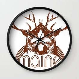 Backwoods Maine Wall Clock