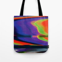 glitch Tote Bags featuring Glitch by Simon Langlois