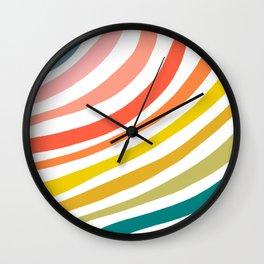 Good Feels Retro Rainbow Waves Wall Clock