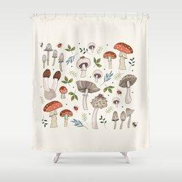 Wild Mushrooms & Toadstools Shower Curtain
