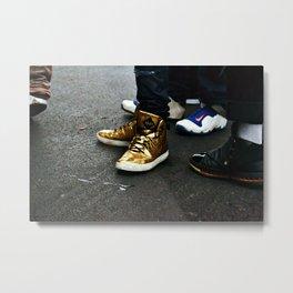 Gold Bold Metal Print