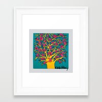 keith haring Framed Art Prints featuring Keith Haring: The Tree of Monkeys by cvrcak