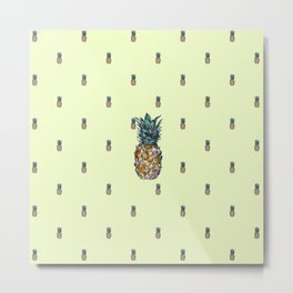 Small Pineapples - by Fanitsa Petrou Metal Print