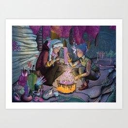 Talitha and Nihal Art Print