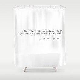 SALINGER Shower Curtain
