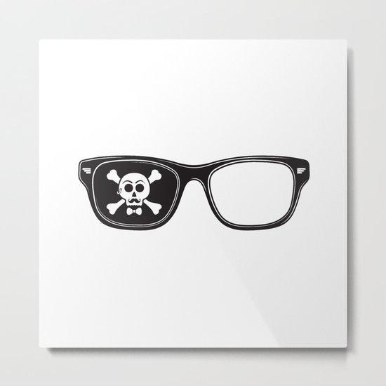 Hipster Pirate Metal Print