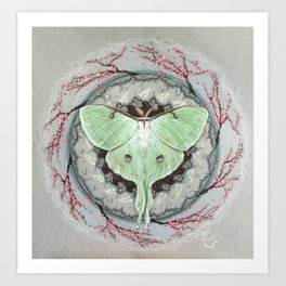 Luna Moth Mandala Art Print