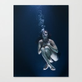 Woman Underwater Canvas Print