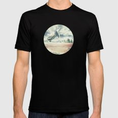 Into the sky Mens Fitted Tee MEDIUM Black