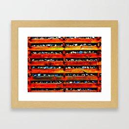 Wood, Rock & Bob Framed Art Print