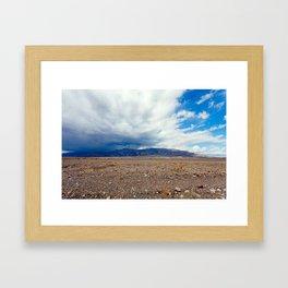 Rain Cometh in Death Valley Framed Art Print