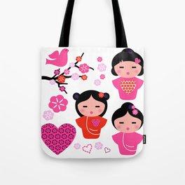 Little love Geishas, love design elements Tote Bag