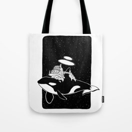 Space orca Tote Bag