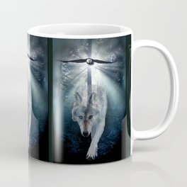 The Gathering - Wolf and Eagle Coffee Mug