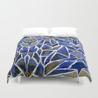 cracked Duvet Covers featuring Cracked by Lachlan Willis