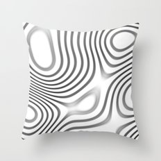 Organic Abstract 01 WHITE Throw Pillow