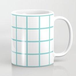 Aqua Grid Pattern Coffee Mug