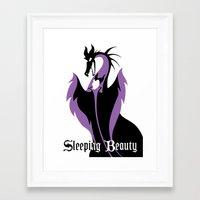 sleeping beauty Framed Art Prints featuring Sleeping Beauty by Citron Vert