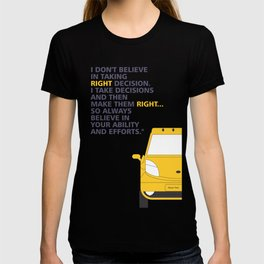 Lab No.4 -I Don't Believe In Taking Right Decision Inspirational Quote Quotes poster T-shirt