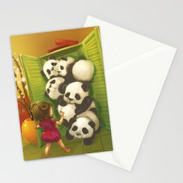 A cupboard of pandas Stationery Cards