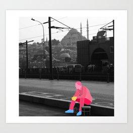 Waiting in Istanbul Art Print