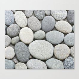 Grey Beige Smooth Pebble Collection Canvas Print