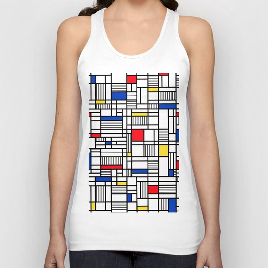 Map Lines Mond Unisex Tank Top