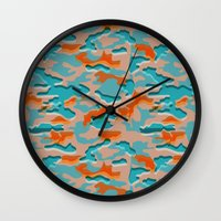 military Wall Clocks featuring Autumn military by Pimpa Gerroc