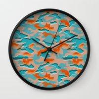 military Wall Clocks featuring Autumn military by Pimpa Gerroc