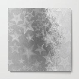 Silver Starshine Metal Print