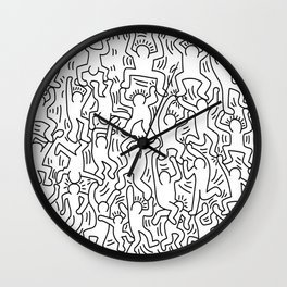 Keith Haring Doodles  Wall Clock