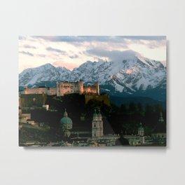 Salzburg Castle Metal Print