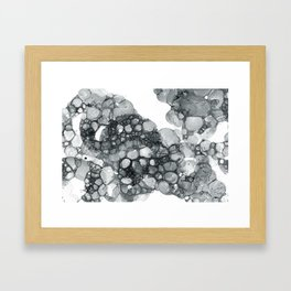 Ink Bubbles Framed Art Print