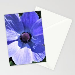 Beautiful  Blue Anemone Stationery Cards