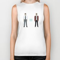 tyler durden Biker Tanks featuring F. C. - Narrator and Tyler Durden by V.L4B