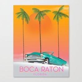 Boca Raton Florida travel poster Canvas Print