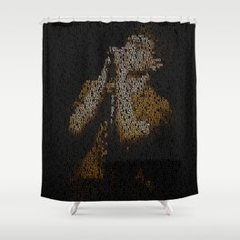 Ian Curtis : Unknown Pleasures Shower Curtain