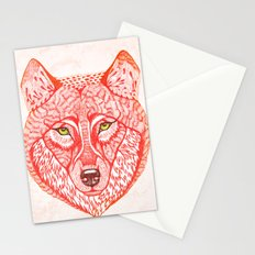 Red wolf Stationery Cards