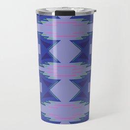 Design blue exotic aztecs Travel Mug