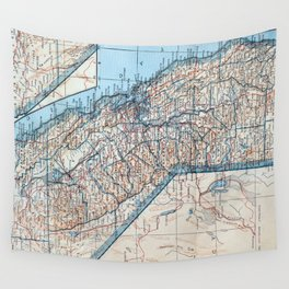 Vintage Map of California (1921) Wall Tapestry