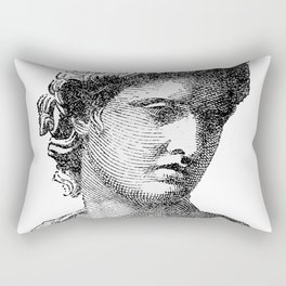 Portrait of Apollo Belvedere Rectangular Pillow
