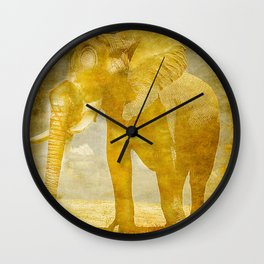 The elephant under a sandstorm Wall Clock