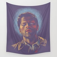 halo Wall Tapestries featuring Castiel. Blue halo. by Armellin