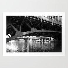 Chicago Riverwalk - Underneath State Street Bridge Art Print