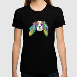 Splash Cavalier King Charles Spaniel Dog T-shirt