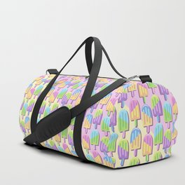 Ice Lollipops Popsicles Summer Punchy Pastels Colors Pattern Duffle Bag