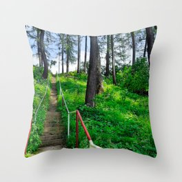 Stairways In a Forest Throw Pillow