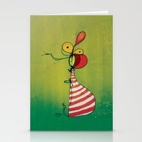ballon Stationery Cards featuring Ballon Man by Gokce Gurellier