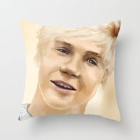 niall Throw Pillows featuring Niall by Sayrise